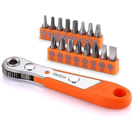 Chiave a cricchetto multiuso Toolstar confezione da 1 4 in 1 chiave combinata a cricchetto argento reversibile