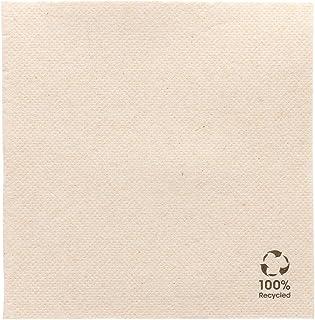 Garcia de Pou Lot de 50 Serviettes, Fibres Synthétiques, Naturel, 17,83x9,88x9,2 cm