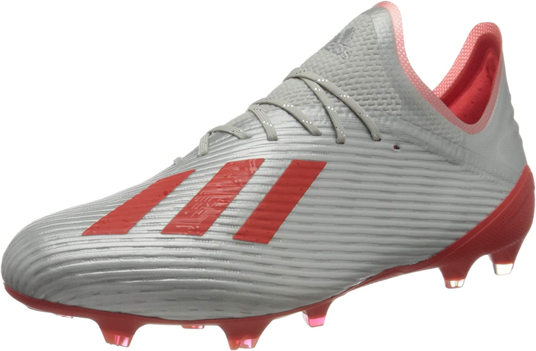 配送員設置送料無料 adidas 付与 Men's X 19.1 Fg Footbal Met. Res Hi Shoes Silver