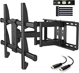 PERLESMITH TV Wall Mount Bracket Full Motion Dual Articulating Arm for Most 37-70 Inch LED, LCD, OLED, Flat Curved TVs up ...
