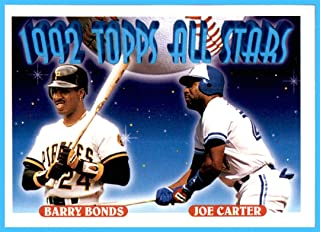 1993 Topps #407 Barry Bonds Joe Carter PITTSBURGH PIRATES TORONTO BLUE JAYS