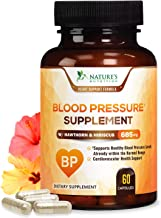 Blood Pressure Support Supplement with Hawthorn and Hibiscus 685mg - Heart Health Vitamins - Made in USA - Best Natural Ex...