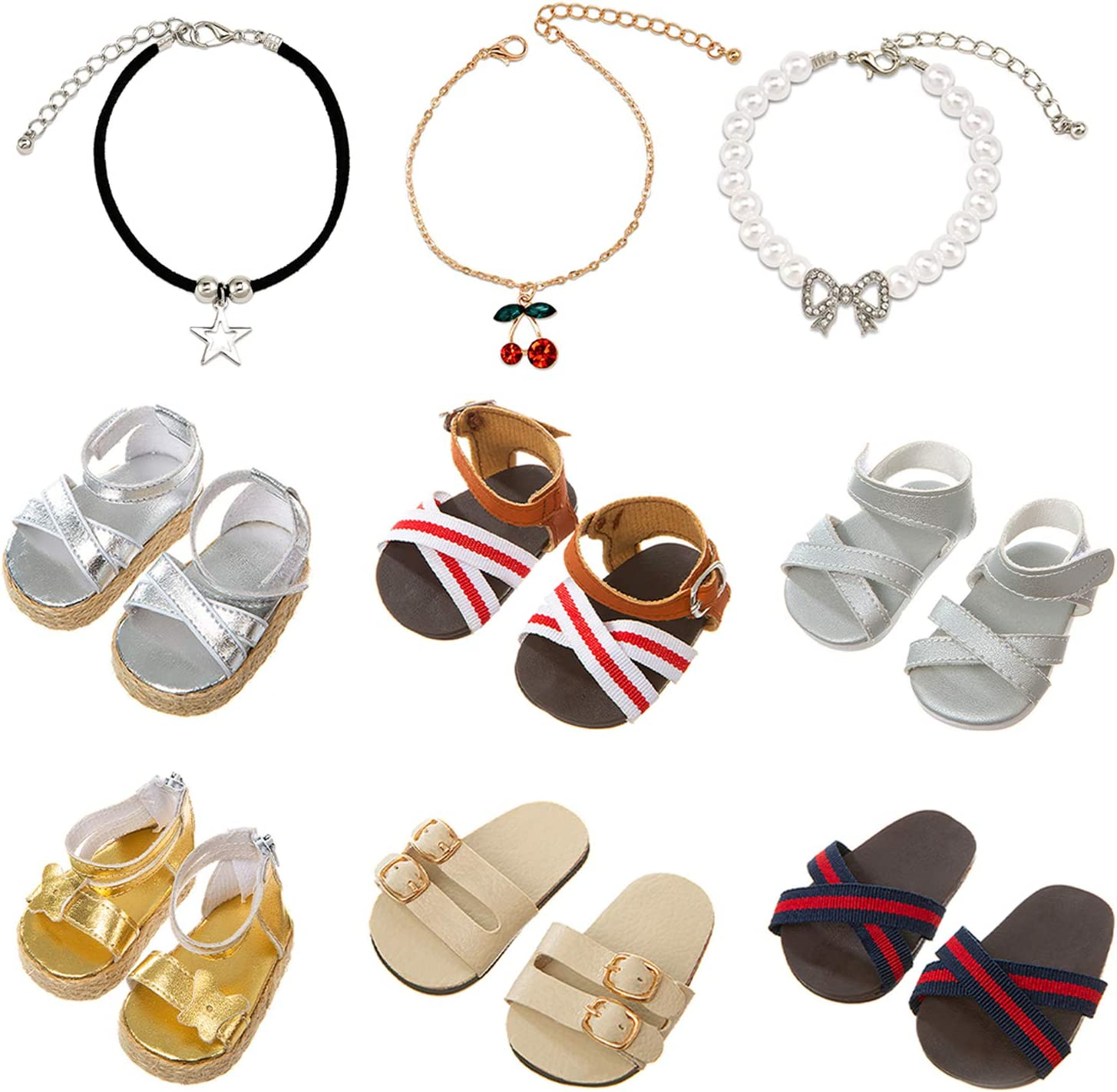 Ecore Limited price sale Fun Popular brand 6 Pairs of Shoes Fit Inch a 18 Doll for American