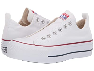 Converse Chuck Taylor(r) All Star(r) Lift Slip Ox (White/Red/Blue) Women