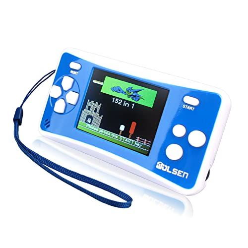 "WOLSEN 2.5"" Color Portable Handheld Game Console w/152 Games & Speaker (Blue)"