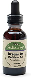 Dream On 100% All Natural Sleep Formula Tincture, Valerian Root Extract for Occasional Sleeplessness (1 oz)