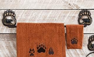 Black Forest Decor Bear Paw Wilderness Rustic Towel Bar