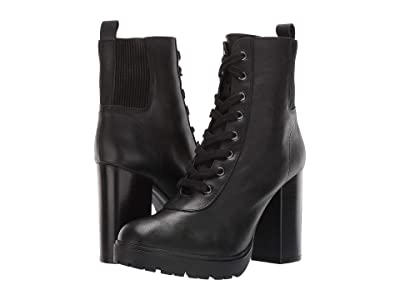 Steve Madden Latch Combat Boot (Black Leather) Women