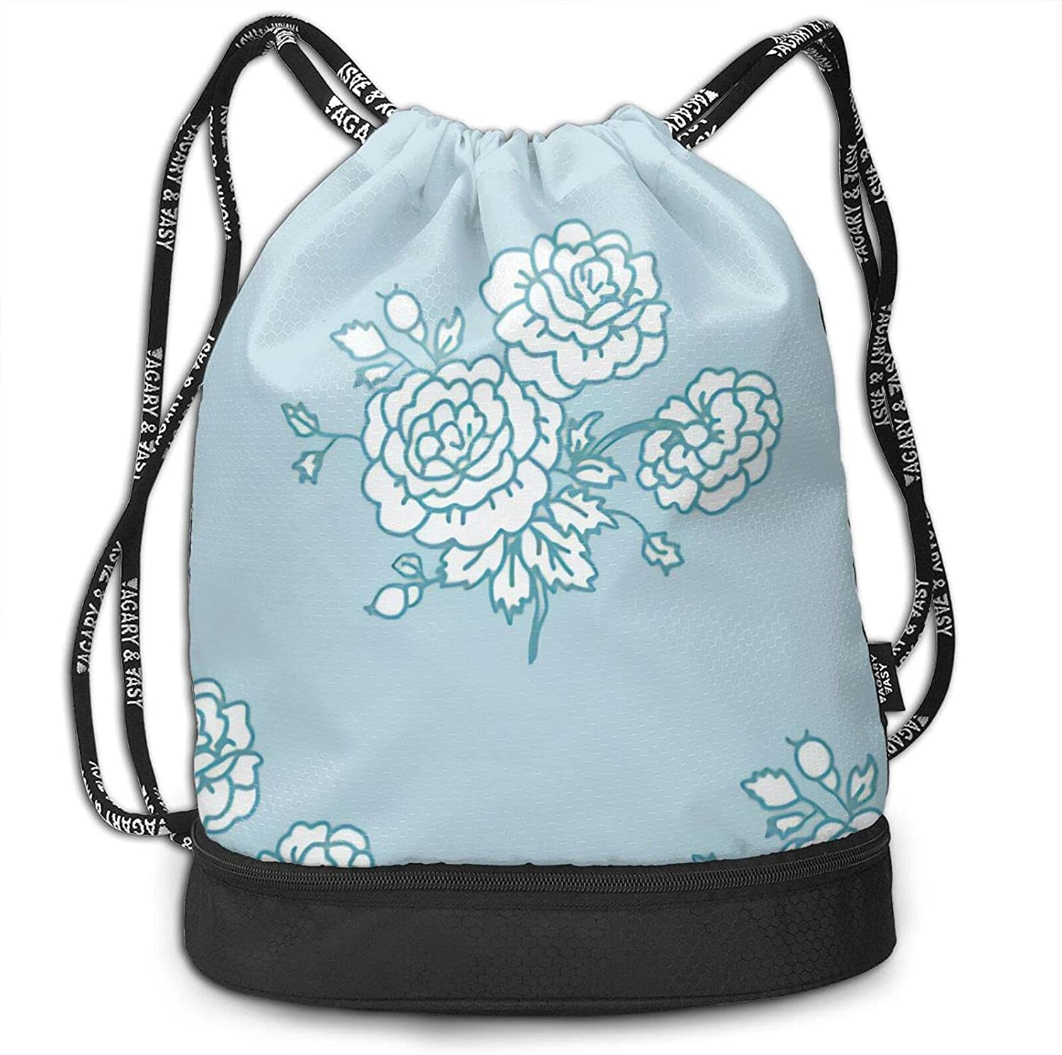 CURANI Drawstring Backpack Bombing free free shipping shipping chintz - blue Storage baby Pouch Bag