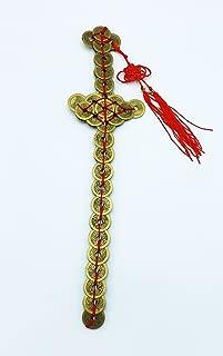 Feng Shui Zen Art Brass Money Coin Sword