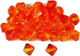 30 Fire Opal Bicone Swarovski Crystal Beads 5301 6mm