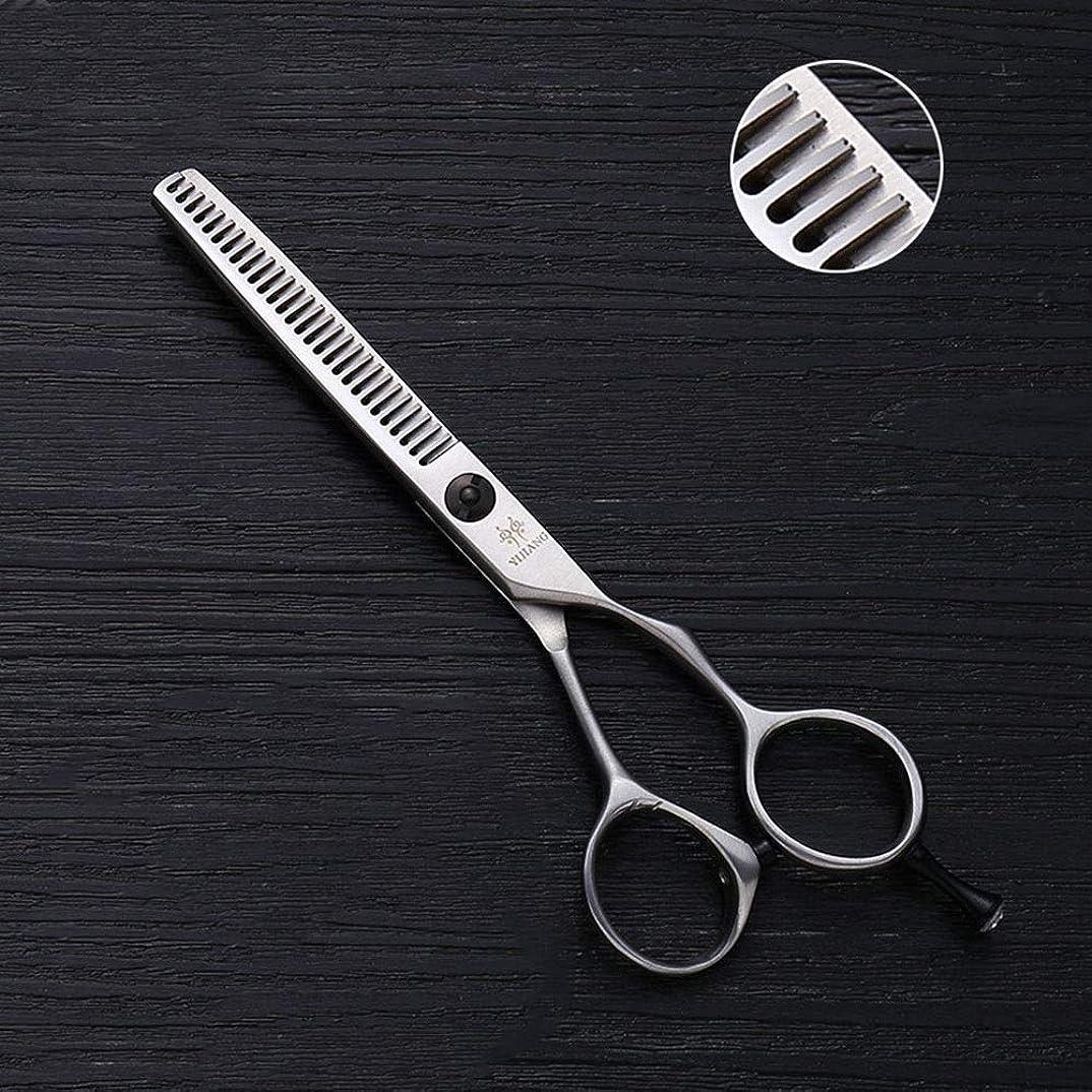 プレゼンテーション余裕がある抵抗する5インチの理髪はさみ、28歯の間伐はさみ、ステンレス鋼のV歯ヘアカット ヘアケア (色 : Silver)