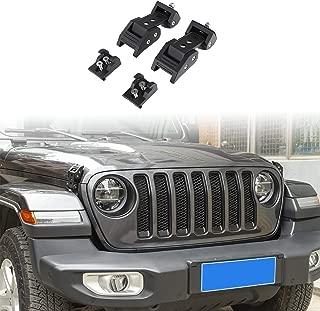 RT-TCZ Black Stainless Steel Latch Locking Hood Catch Kit for 2018 2019 Jeep Wrangler JL (JL-Black)
