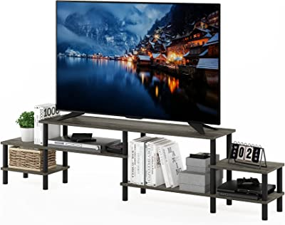Furinno Turn-N-Tube Grand Entertainment Center for TV up to 80 Inch, French Oak