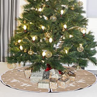 images of christmas trees decorated with burlap