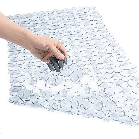 NEW New Extra Long 90 X 40Cm Pebbles Anti Bacterial Non Slip Bath Shower Mat Be