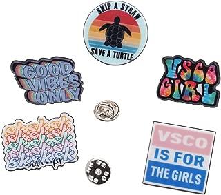 Vsco Girl 5 Pack Lapel Pin Set | Vsco Life, Good Vibes Only, Vsco Is For The Girls