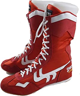 FJJLOVE Boxing Shoes, Lightweight Wrestling Shoes High Top Boxing Boots Rubber Sole Training Sport Sneakers for Men Women ...