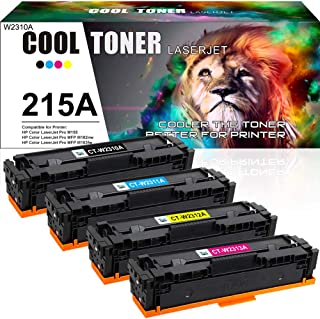 Cool Toner Compatible Toner Cartridge Replacement for HP 215A W2310A W2311A W2312A W2313A HP Color Laserjet Pro MFP M183fw...