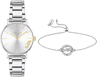 COACH PERRY WOMEN's SILVER WHITE DIAL WATCH - 14000064