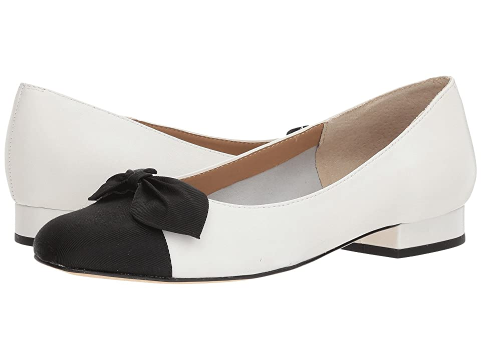 Vaneli Favor (White Nappa/Black Grosgrain) Women