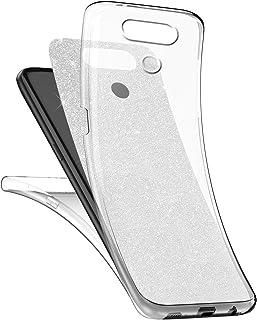 Surakey [Thin Fit 360 Funda LG G6 Strass Brillo Bling Rhinestones Brillante Exact Slim de Protección Completa Y Protector de Pantalla para LG G6,Plata