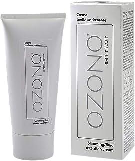 OZONO H&B Crema Corpo Drenante Professionale - Olio Ozonizzato Microincapsulato - MADE IN ITALY (200 ML)