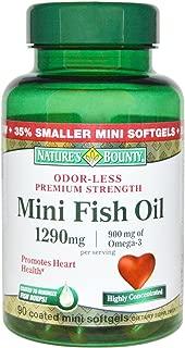 Nature's Bounty Fish Oil 1290 mg Mini Softgels - 90 ct, Pack of 5
