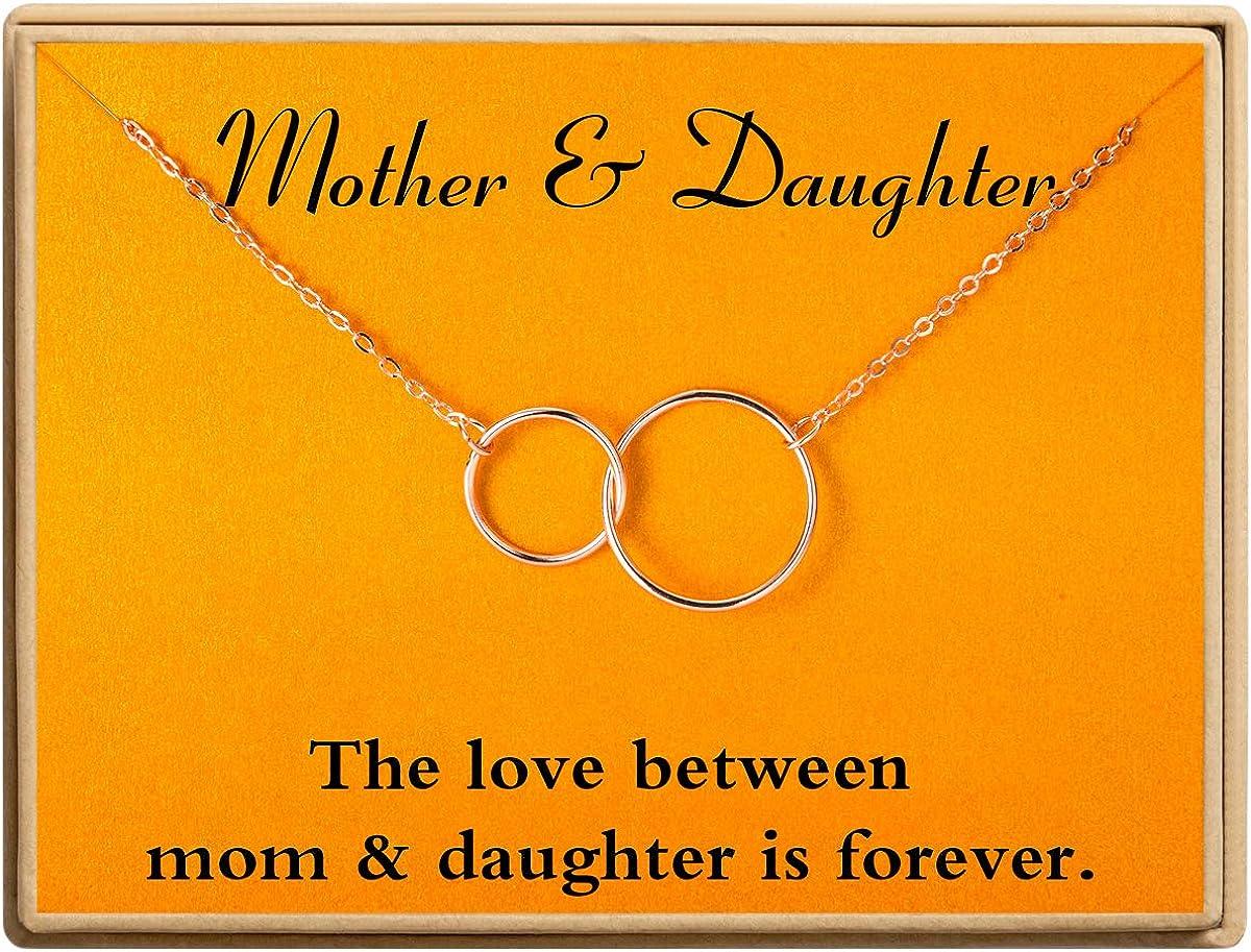 Ldurian Necklace Two Interlocking Infinity Pendants W Circles 2 Sale price Max 66% OFF