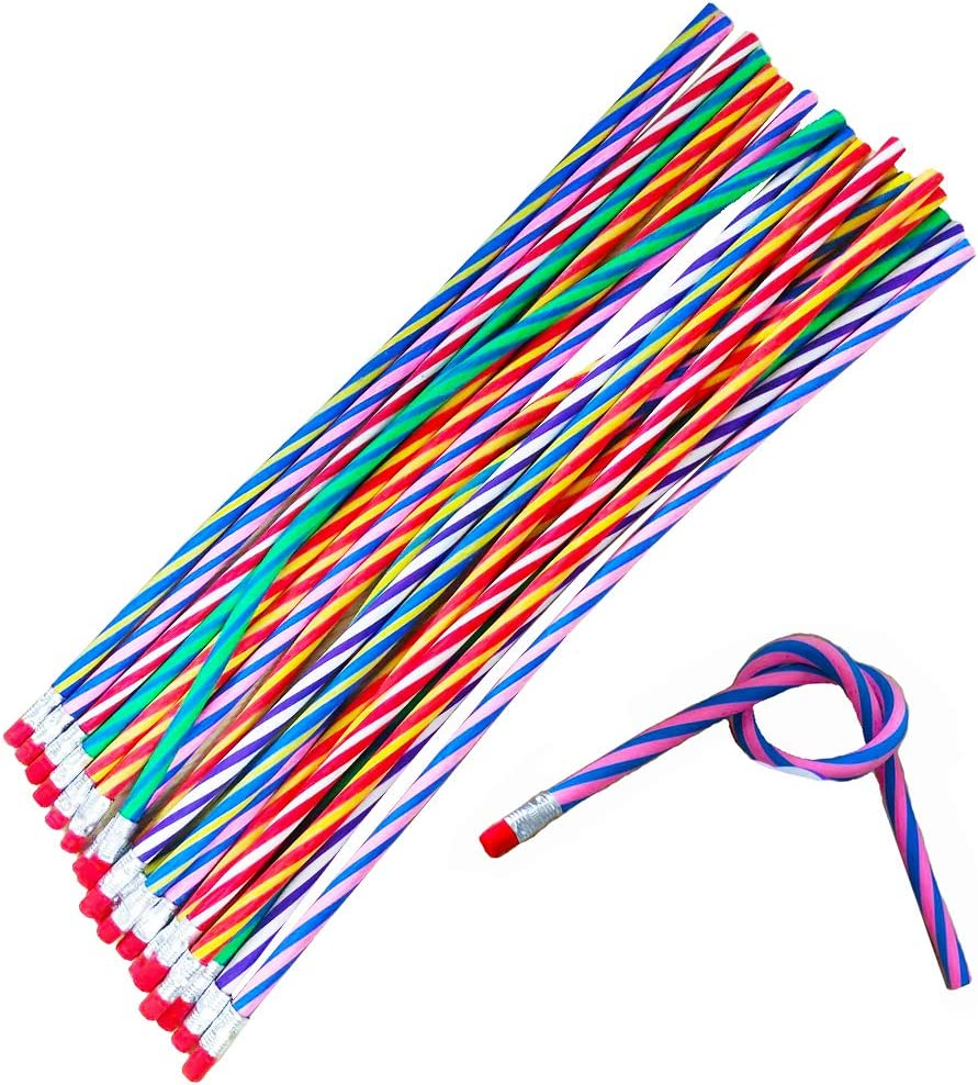 Cheap super special price price 20PCS Crazy Soft Bending Pencils with Erasers Inches 12 Ben Long