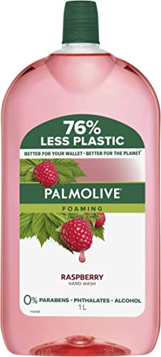 Palmolive Foaming Hand Wash Soap Raspberry Refill and Save 0 percentage Parabens 0 percentage Phthalates Removes Germ...