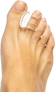 ZenToes Clear Gel Toe Separators for Bunions, Spreaders for Overlapping Toes and Drift Pain - 4 Pack