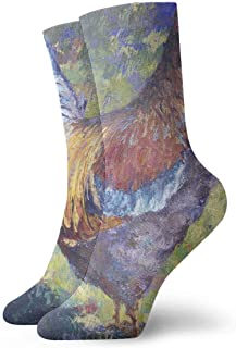tyui7, Calcetines de compresión de pintura al óleo gallo acuarela calcetines de compresión antideslizantes calcetines deportivos de 30 cm para hombres, mujeres, niños
