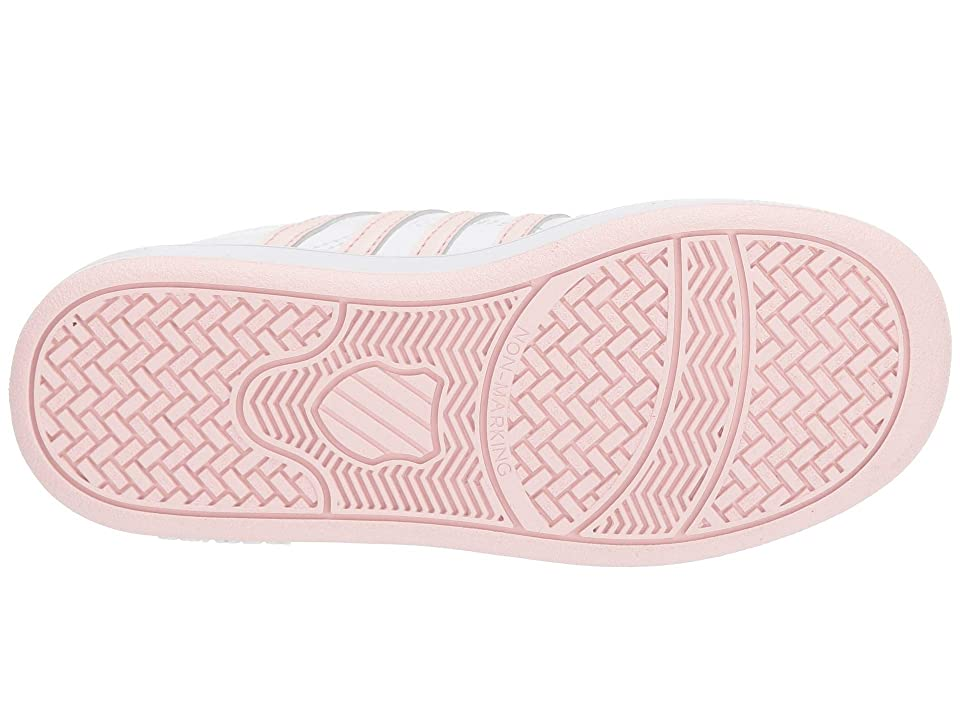 K-Swiss Classic Pro (Little Kid) (White/Pearl) Shoes, Pink