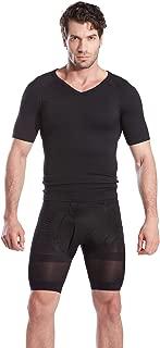 Hoter Mens Slim and Tight Super Soft Compression & Slimming Shaper V-Neck Compression Shirt
