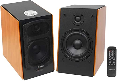 "high quality (2) online Rockville popular HD5 5"" Powered Studio Monitor Bluetooth Bookshelf Speakers online sale"