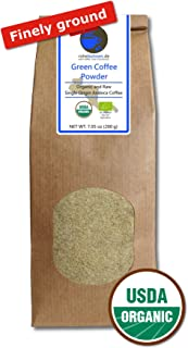 Green Coffee Powder organic, 100% pure and natural (finely ground, 200g)