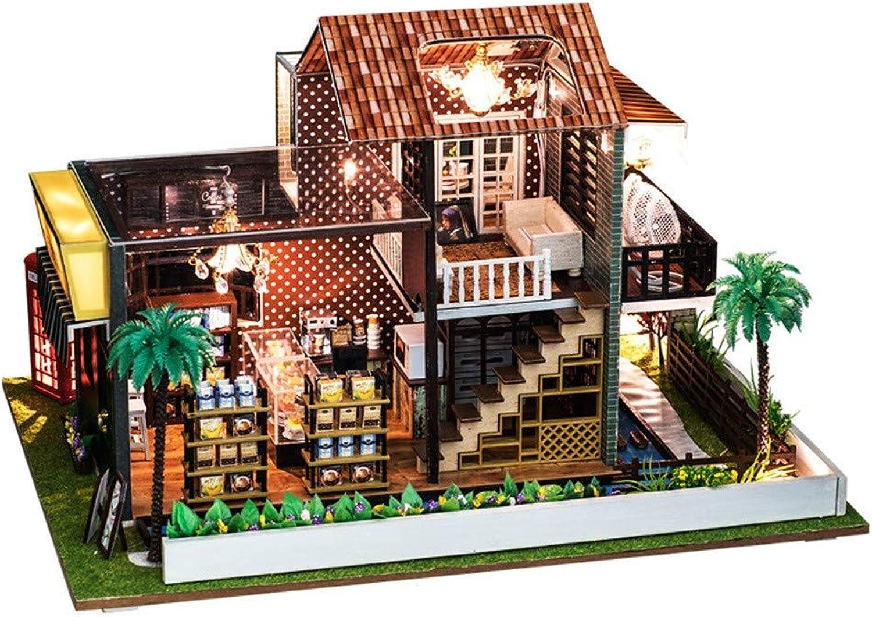 HSKB DIY Holzhaus Mbel Miniaturhaus Kreatives Geschenk Spielzeug 3D Puzzle, kreative Puppenhaus Kunsthandwerk Geschenk für Valentinstag, Kindertag, Weihnachten, Hochzeit