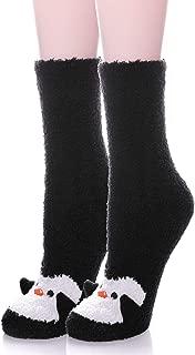 LANLEO Womens Girls Soft Fuzzy 3D Cute Animal Sleeping Winter Warm Slipper Socks 1 Pairs