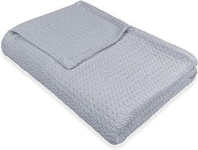 BALTIC LINEN Eileen West Cotton Blanket, TWIN, Azure