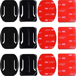 Taisioner Curved & Flat Adhesive Mount 3M Sticker Paster Sticky for GoPro Hero 1 2 3 4 5 6 7 8 Black Silver White GoPro Ma...
