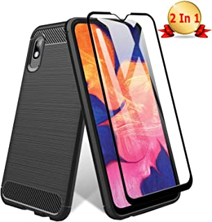 [Screen Protector with Case] TopACE for Samsung Galaxy A10e Screen Protector with Built-in Samsung Galaxy A10E Case with Replacement Warranty (Black)
