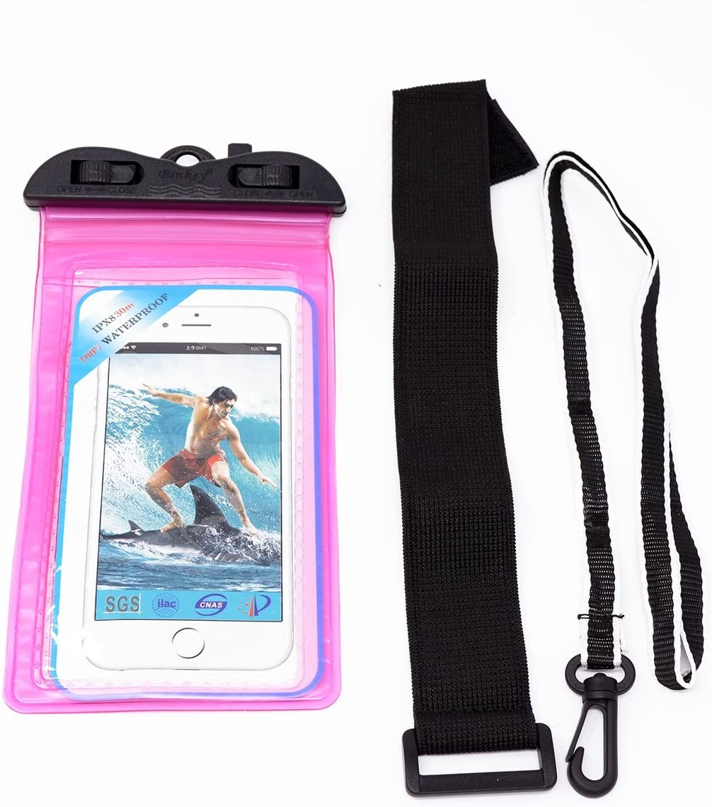 Adoretex Sport Waterproof Case Cell Phone Pouch Dry Bag Pocket with Armband, 6