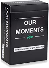 OUR MOMENTS Kids: 100 Thought Provoking Conversation Starters for Great Parent-Child Relationship Building - Fun Car Travel, Road Trip & Home Card Questions Game for Healthy Loving Family Development
