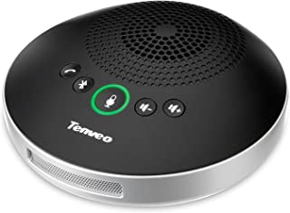Tenveo専門店 USBスピーカー Bluetooth 全指向性集音 高音質 コンパクト 音量調整 遠隔会議・web会議用・ZOOM 各アプリ互換(TEVO-A2000B)