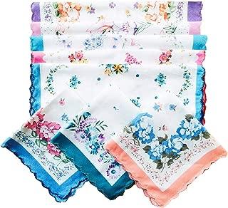 Ladies Ladies Pretty Floral Cotton handkerchiefs Assort Lot Hankies 11inch