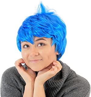 Inside Out Disney Joy Blue Costume Wig