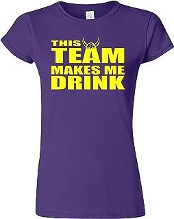 Gildan Junior This Team Makes Me Drink Minnesota T-Shirt Tee (X-Large, Purple)