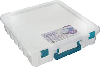 Darice Clear Organizer with Handle 14x14 inches
