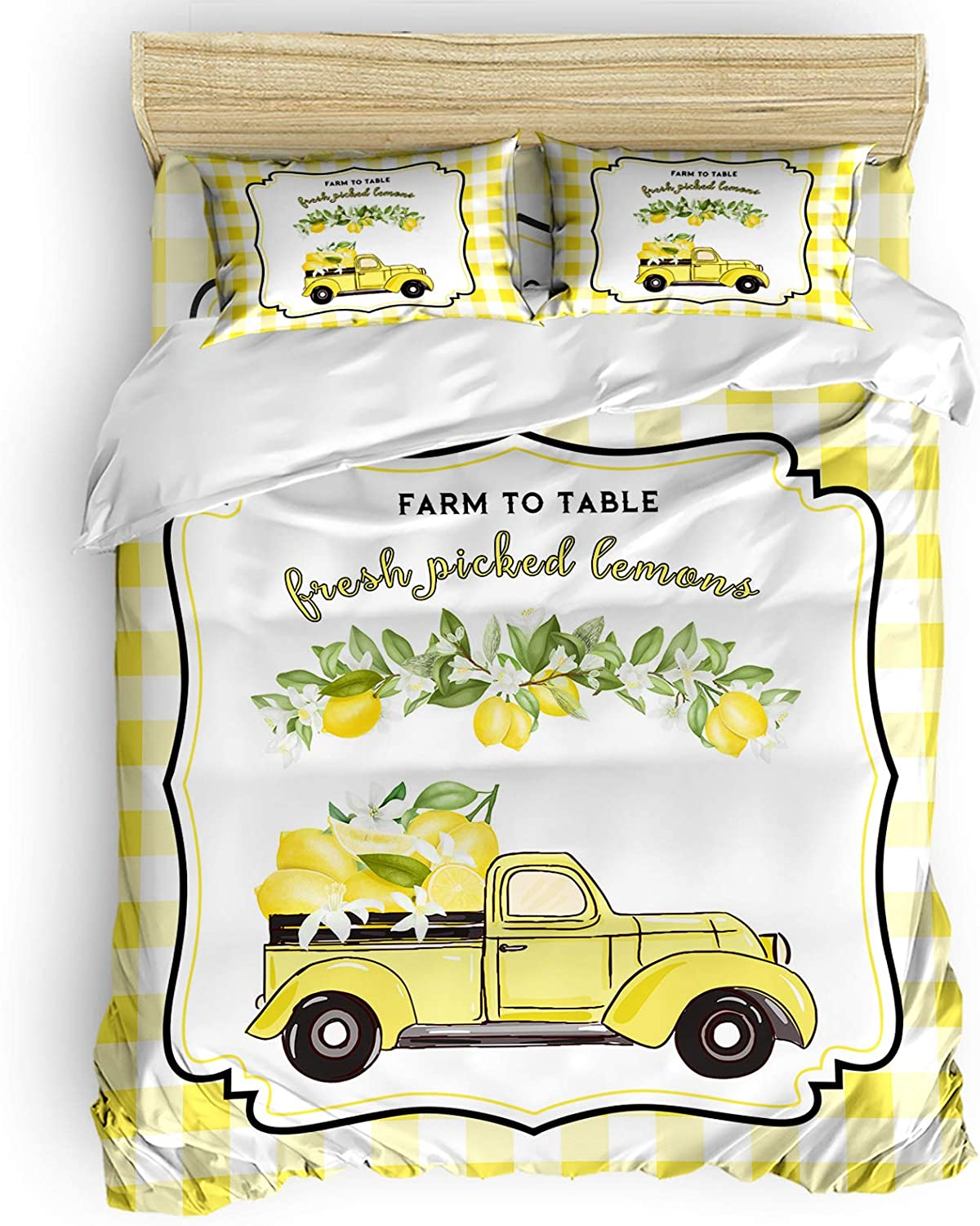 Bombing free shipping Branded goods Twin Comforter Covers Sets Rustic Truck Loads Fresh 4 of Lemons